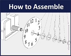 How to assemble quartz movements and hands