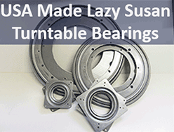 Lazy Susan Turntable Bearings USA Made from Bear Woods