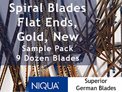 Spiral Blades Mixed Pack Sample scroll saw blades