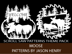 Scroll Saw Patterns of Moose by Jason Henry