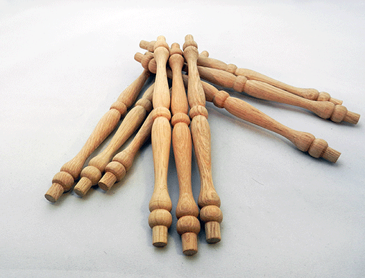 Wooden Chair Spindle Replacement Parts ~ Oak spindles inch by