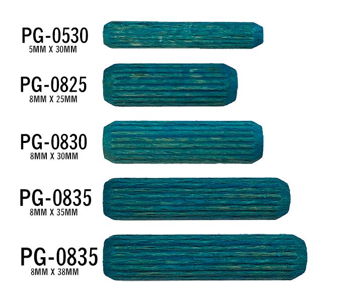 50 per pack 1//2 x 2-1//2 Spiral Dowel Pins