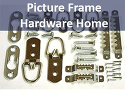 Picture framing hardware and sawtooth hangers