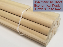 Poplar Dowels Made to Order