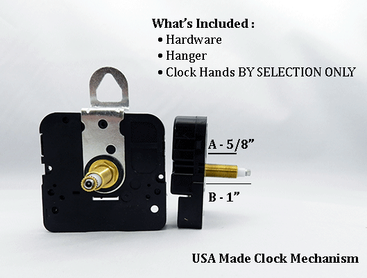 USA Made Clock Movement 5/8 inch | Bear Woods Supply