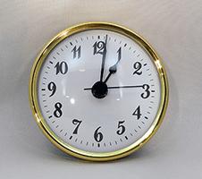 White Arabic Premium Clock Insert 2-3/4 inch   Bear Woods Supply