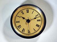 Black bezel gold roman numerals clock fit up