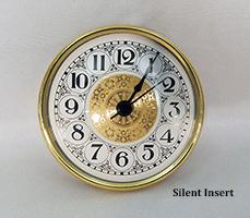 White Fancy Arabic Silent Clock Insert | Bear Woods Supply