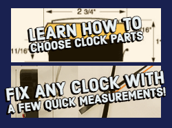 How to choose replacement clock parts