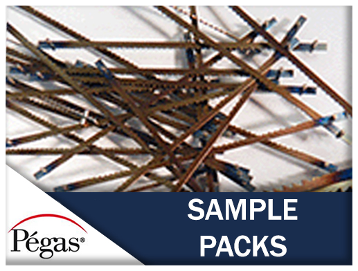 Scroll saw blades sample packs pegas