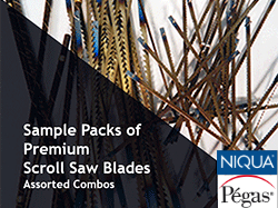 Sample Packs of Pegas and Niqua Scroll Saw Blades