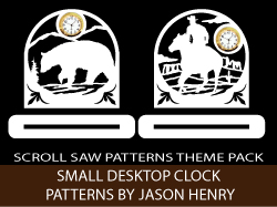 Small Desktop Clock Scroll Saw Patterns Pack by Jason Henry