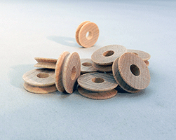 Wooden Toy Pulleys for Trucks | Bear Woods Supply