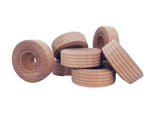 1 x 12 Treaded Wood Toy Wheels
