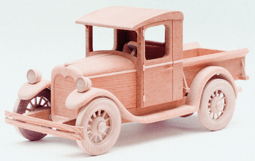 Wooden Trucks Toys And Joys : Chevrolet pickup woodworking plan approx quot