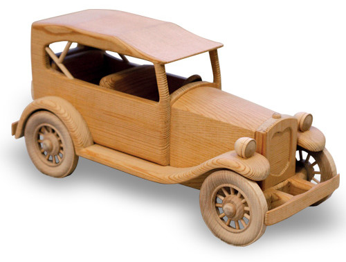 "The 1929 Ford 'Phaeton' Woodworking Plan (Approx. 14"")"