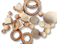 Wooden Blocks, Wooden Rings, Wooden Unfinished Beads, and more!