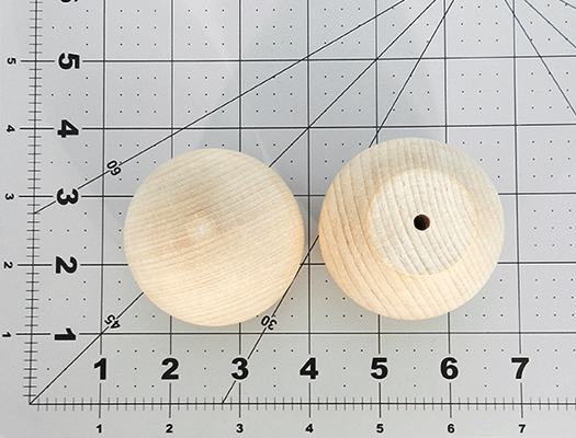 Wood Ball Knob 2-1/4 inch | Bear Woods Supply