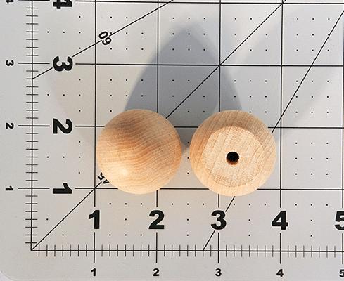 Wood Ball Knob 1-1/4 inch | Bear Woods Supply