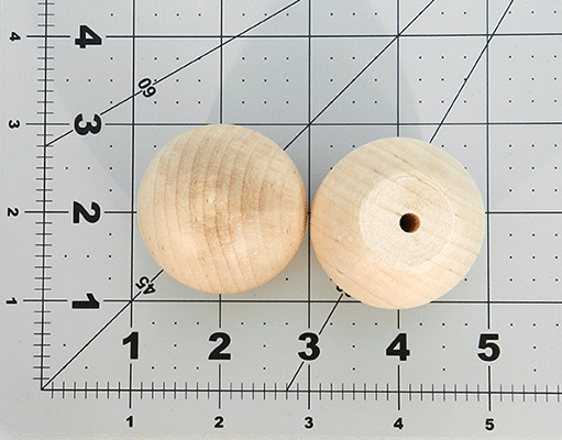 Wood Ball Knob 1-3/4 inch | Bear Woods Supply