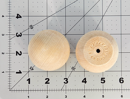 Wood Ball Knob 2 inch | Bear Woods Supply
