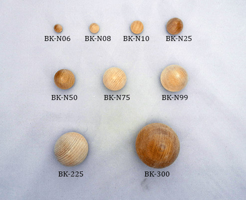 Buy wooden ball knobs in many sizes | Bear Woods Supply