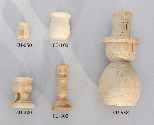 Buy wood candle sticks and wooden candle cups | Bear Woods Supply