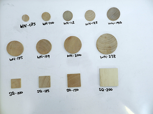 Buy wood discs, wooden tiles | Bear Woods Supply