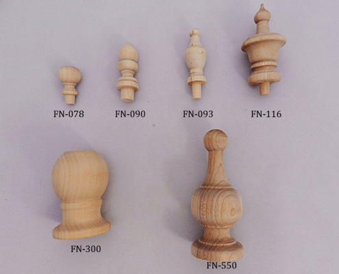 Shop for wooden finials in Hardwood Maple | Bear Woods Supply