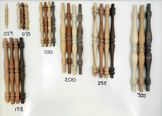 Shop wooden spindles, maple, birch, oak | Bear Woods Supply