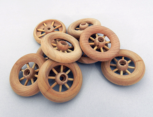 Spoked Wood Wheel 1 3 4 Quot X 3 8 Quot With Axle Peg