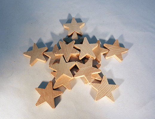 Wood Star Cut Out 1 1 2 Inch By 1 4 Inch