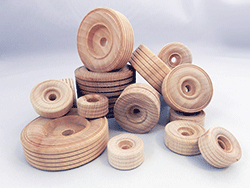 Treaded Wood Wheels | Bear Woods Supply