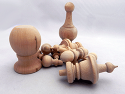 Wooden furniture spindles low prices in oak maple for Wooden finials for crafts