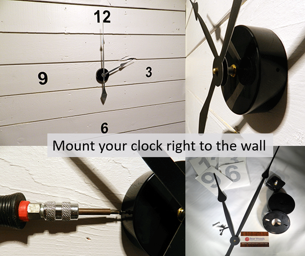 Clock Kits to make Large Wall Clocks