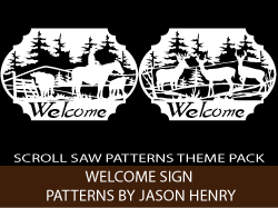 Welcome Signs Scroll Saw Patterns by Jason Henry