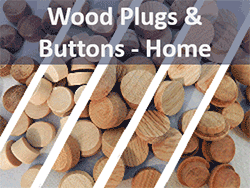 Wood plugs and buttons