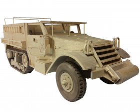 Wood toy plan Half Track WWII Truck by Toys and Joys | Bear Woods Supply