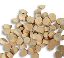 "Birch Flat Head Wood Plugs (3/4 Diameter, 1/4"" Thick)"