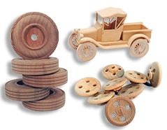 wooden toy wheels for models