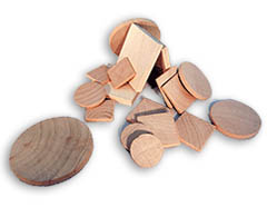 Wooden discs and tiles for sale