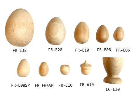 Buy wooden eggs and hardwood apple shapes | Bear Woods Supply