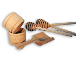 Wooden Honey Dipper, Wooden Napkin Ring