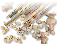 Smooth Dowel Rods, Wood Buttons, Wood Finials