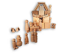 Wooden People, Wooden Peg Dolls, Wooden Pawns