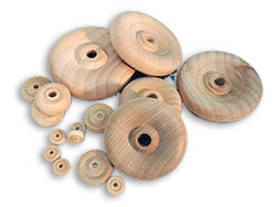 Wooden Contoured Wheels