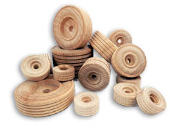 Wooden Wheels With Tread