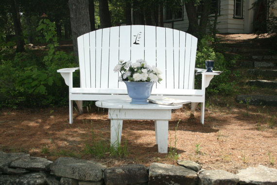 Adirondack chair loveseat bench plan