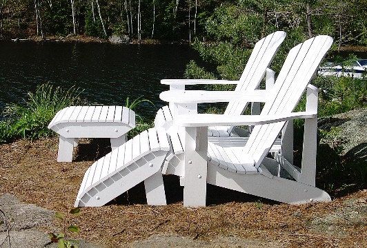 Downloadable Adirondack Foot Stool Plan In Autocad