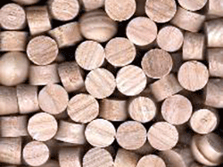 ash wood flat top plugs end grain | Bear Woods Supply